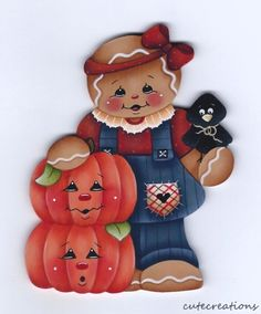 HP GINGERBREAD with Pumpkins FRIDGE MAGNET