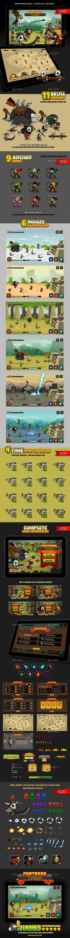 Fortress Defense | Download: https://graphicriver.net/item/fortress-defense/17522829?ref=sinzo #Game #Kits Game #Assets