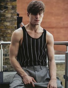 """Oliver Cheshire in """"London Calling"""" by Mitchell Nguyen Mccormack for Da Man Style Fall Winter 2016-2017"""