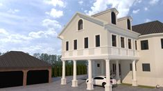 Simulare 3D fatada casa cu profile din polistiren CoArtCo Home Fashion, Mansions, House Styles, Interior, Home Decor, Decoration Home, Manor Houses, Indoor, Room Decor