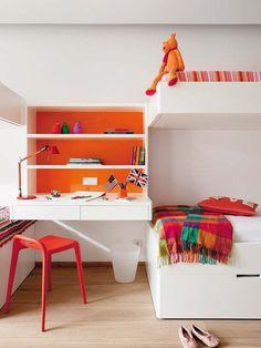 compartir habitacióninfantil Cuatro hermanas para un dormitorio infantil.