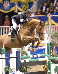 Mclain Ward. Look at the equitation! He has exquisite form, and has had it his entire professional career - no matter how high or low the jump.