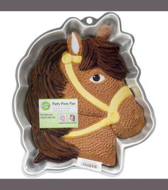 "Wilton Novelty Cake Pan 13.75""X10.5""X2"" - Party Pony"