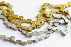 0070; Halsschmuck 750/- Gelbgold, oval; Halsschmuck Silber