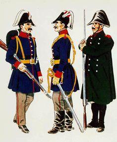 Guardia de Infantería con Uniforme de Servicio Guardia de Caballería con Uniforme de Servicio Guardia de Infanteria con Uniforme de Servicio en invierno