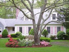 Front yard landscaping for Cape Cod home