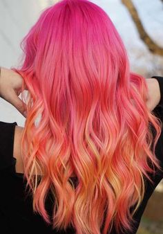 42 Lovely Long Pink Hairstyles and Hair Colors in 2018