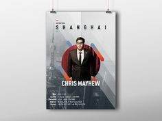 Poster for Chris Mayhew's Shanghai Magic Lecture by Patrick Fang