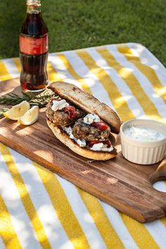 Photo of Lamb Burgers with Feta and Yoghurt Dressing