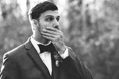 The Surprised Groom when he sees your wonderful boudoir photos right before the wedding! :)