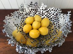 functional art Aluminum cast metal recycled aluminium fruitbowl