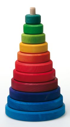 Large Wooden Conical Stacking Tower - Little Spruce Organics