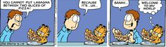 Garfield Comic Strip from My granddaughter enjoyed me reading this with her. Garfield Cartoon, Garfield And Odie, Garfield Comics, Funny Text Fails, Funny Texts, Funny Jokes, It's Funny, Hilarious, Funny Animal Pictures