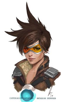 Tracer - Overwatch (Portrait Series) by castcuraga.deviantart.com on @DeviantArt - More at https://pinterest.com/supergirlsart/ #fanart