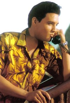 Elvis Presley On The Set Of Blue Hawaii 1961