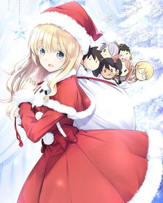 anne_sieber chartreux_westia chibi christmas dress inuzuka_romio juliet_persia kishuku_gakkou_no_juliet komai_hasuki scott_ford Cute Anime Pics, Anime Girl Cute, Anime Art Girl, Loli Kawaii, Kawaii Girl, Kawaii Anime, Romeo And Juliet Anime, Chibi, Anime Echii