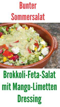 Salat hat bei mir immer Prio 1 beim Grillen und daher gibt es diesen leckeren Brokkoli-Feta-Salat mit Mango-Limetten Dressing. Rohkost trifft ein fruchtig frisches Dressing. Perfekt zum Grillen oder als Hauptspeise. In jedem Mixer oder Thermomix blitzschnell gezaubert.