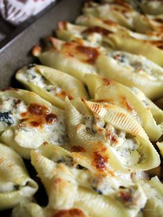 Ricotta and Chicken Sausage Stuffed Pasta Shells