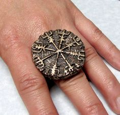 ✯ Scandinavian Viking Compass Ring✯