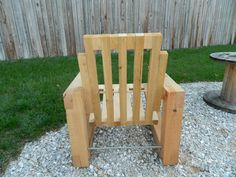 outdoor cedar chair by GRAiNbyDeni on Etsy
