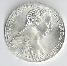 A Beauutiful Silver 1780 Maria Theresia Thaler by COLLECTORSCENTER on Etsy