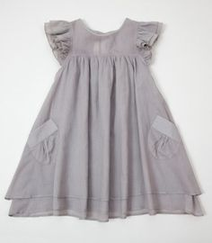 0e13333a33e2 voile dress grey front large great pockets Babysyning