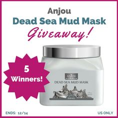 Anjou Dead Sea Mud Mask #Giveaway | Sorteos gratis