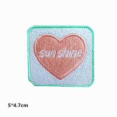 New to craftapplique on Etsy: pink heart patch sun shine good mood patch baby girl lovely patch embroidered patch full embroiderry iron on patch sew on patch USD) Cool Patches, Sew On Patches, Iron On Patches, Embroidery Patches, Embroidered Patch, Wholesale Promotional Products, Patch Shop, Letters And Numbers, Good Mood