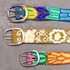 Jenny Krauss embroidered belts at #DenimBarMKE See more at www.DenimBarMKE.com #LOVETHEM!!