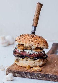Burger mit Pilze