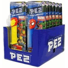 Marvel Superheroes Pez Dispensers(Pack of 12)