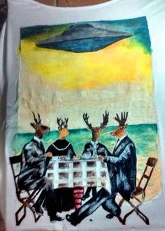Arte na camija feita a mão