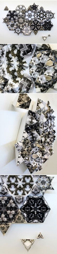 """tessellate"" by nicole crock (folded paper sculpture)"