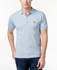 Lacoste Men's Pique Polo  - Gray 2XL