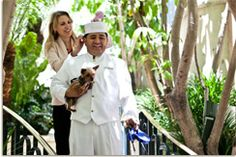 """The Peninsula Beverly Hills takes the term """"pet-friendly"""" to new heights of luxury, offering each four-footed guest a plush doggie bed, monogrammed towel and Fiji Water in a shiny bowl."""
