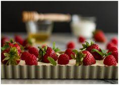 Tarte de cereais, iogurte e fruta