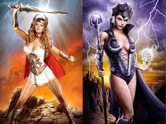 As Super-Heroínas nas ilustrações de Jeff Chapman (She-ha)