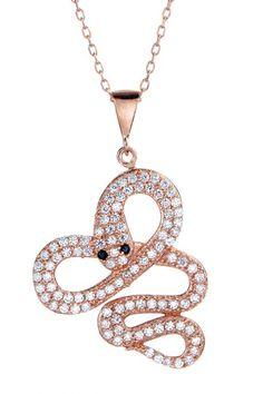 Swarovski Crystal Swirl Snake Pendant Necklace on HauteLook