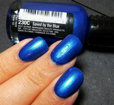 "Wet n Wild Saved by the Blue...ok, @bluescreenlife pointed out to me that this is a ""Saved By The Bell"" reference, but I think this is the perfect TARDIS blue. You know, if you're into that kind of thing ;)"