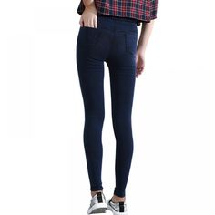 Cheap denim leggings, Buy Quality jeans leggings directly from China women jeans leggings Suppliers: BIVIGAOS Women Jeans Leggings Casual Fashion Skinny Slim Washed Jeggings Thin High Elastic Denim Legging Pencil Pants For Women Denim Leggings, Leggings Mode, Lässigen Jeans, Leggings Fashion, Jeggings, Jeans Polo, Black Leggings, Business Casual Jeans, Casual Mode