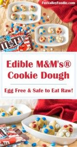 Edible MAndM's® Cookie Edible M&M's® Cookie Dough - Egg Free & Safe to Eat Raw and this is picked for your for father's day . Easter Biscuits, Dessert Recipes, Yummy Recipes, Amazing Recipes, Cookie Recipes, Easter Cookies, Eating Raw, Egg Free, Quick Easy Meals