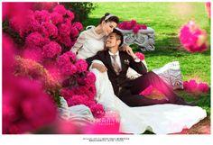 on location bridal shoot