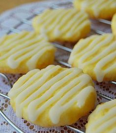 Recipe; Lemon Butter Cookies - These are amazing! Such a nice lemon flavor.