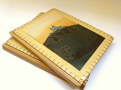 canteiro de alfaces - livros artesanais: pasta