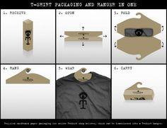 creative packaging tshirt - Google zoeken