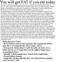 """This is a pro-ana message i found on imgfave.com, whoever originally wrote this sounds delusional- This actually says """"When you feel dizzy and weak, your almost there..Starvation is your friend"""" When i finished reading, i thought """"What the heck did i just read?"""" What is the goal here, exactly? To die of kidney failure, a sudden heart attack, multi-organ failure, to wind up in the hospital, develop osteoporosis, and break a bone?-That's what is on the other side of an eating disorder"""