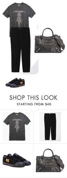 """""""Thursday"""" by pvzhang on Polyvore featuring adidas and Balenciaga"""