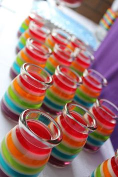 Little Big Company | The Blog: Rainbow Party for a 1st Birthday by Sweet Daisy Rainbow Jelly
