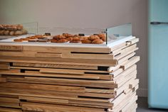 Wood counter at Colorova by LostNCheeseland, via Flickr