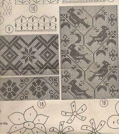 Rahvuslikku nn 5 Love the birds. Filet Crochet Charts, Knitting Charts, Knitting Patterns, Fair Isle Chart, Fair Isle Pattern, Cross Stitch Borders, Cross Stitch Patterns, Cross Stitch Embroidery, Embroidery Patterns
